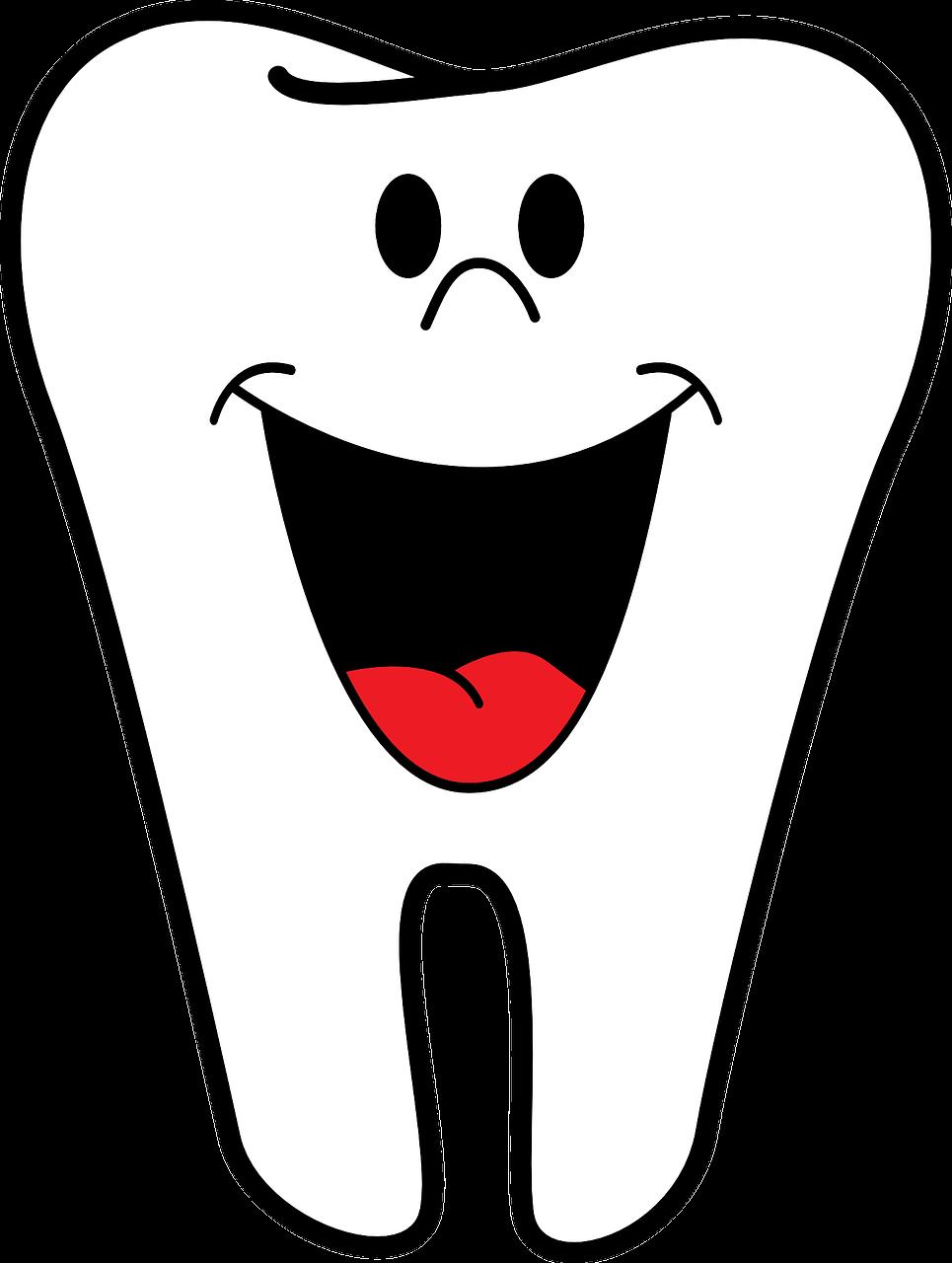 Grafik lachender Zahn